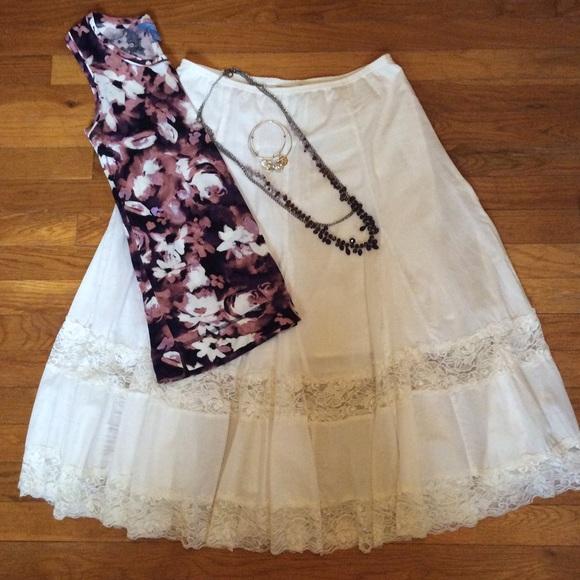 7c3285cb39 Copper Key Dresses & Skirts - 💗 BOGO 💗 White Midi Peasant Boho Gypsy Skirt